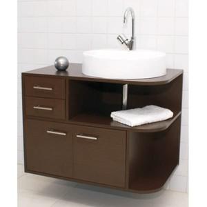 Gabinete de Banheiro Elyon Wenge 75cm Titan
