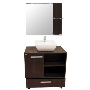 Gabinete de Banheiro  Exclusive  Branco/Wendel P/Cuba Sobrepor Gaam