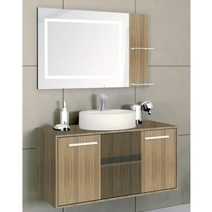 Gabinete de Banheiro Exclusive Nocê 100cm Gaam