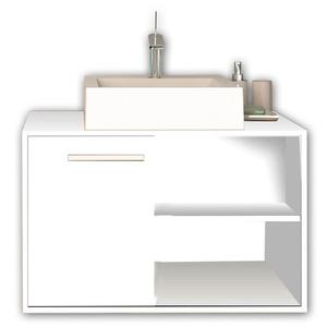 Gabinete de Banheiro Garden Branco/Branco Gaam