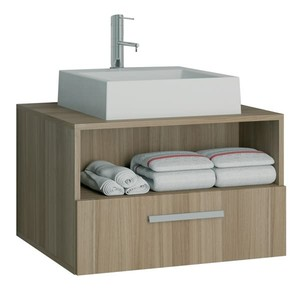 Gabinete de Banheiro Lotus Noce/Noce Gaam