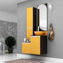 Gabinete de Banheiro Madeira 40x45x42cm Onix e Caja Marsala Mazzu