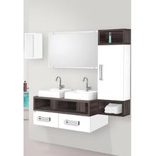 Gabinete de Banheiro Madeira Branco e Amêndoa 42x100x42cm Gold 100 Fabribam