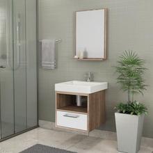 Gabinete de Banheiro Madeira 42x39x43cmLarnaca Novo Iris Cozimax