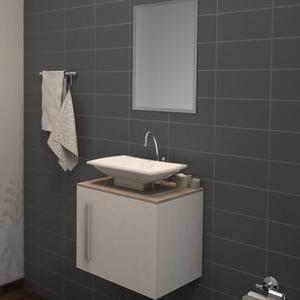 Gabinete de Banheiro Madeira Branco e Delicato 42x48x40,5 Notável Policlass