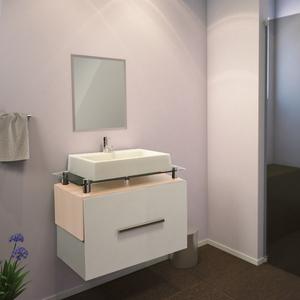 Gabinete de Banheiro Madeira Branco e Delicato 42x61x40,5 Milão Policlass