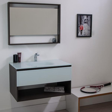 Gabinete de Banheiro Madeira 44,5x60x44cm Cinza Escuro e Branco Morrice 60 Bergan