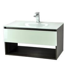 Gabinete de Banheiro Madeira 44,5x80x44cm Cinza Escuro e Branco Morrice 80 Bergan