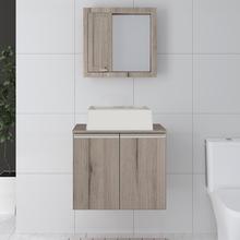 Gabinete de Banheiro Madeira Grigio 44x54,3x40cm Vip Gaam