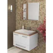 Gabinete de Banheiro Madeira 44x60x50cmLarnaca Manacá Cozimax
