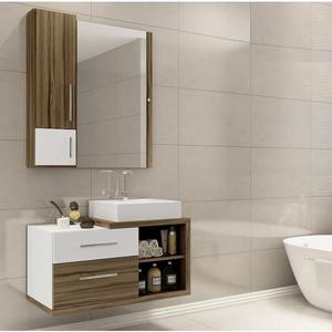 Gabinete de Banheiro Madeira Terracota 44x80,20x40,20cm Paris II Darabas Agardi