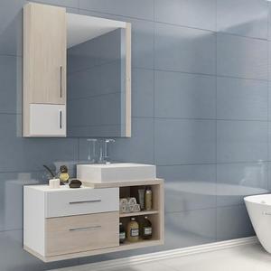 Gabinete de Banheiro Madeira Mezzo Blanco 44x80,20x40,20cm Paris II Darabas Agardi