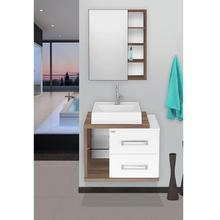 Gabinete de Banheiro Madeira Branco e Amêndoa 46x60x42cm Lótus 60 Fabribam