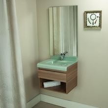 Gabinete de Banheiro Madeira 48x50x40cm Marrom e Branco Lille 50 Bergan