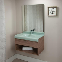 Gabinete de Banheiro Madeira 48x70x40cm Marrom e Branco Lille 70 Bergan
