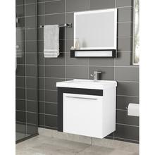 Gabinete de Banheiro Madeira 49x50x35cmBranco e Preto Alecrim Cozimax