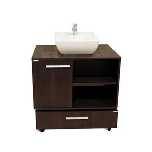 Gabinete de Banheiro Madeira Marrom 51x80x50,50cm Exclusive Gaam
