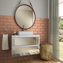 Gabinete de Banheiro Madeira 52x60x38cm Branco Nazca Darabas Agardi