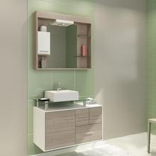 Gabinete de Banheiro Madeira Mezzo Blanco 53,50x80,20x40,20cm Napoli II Darabas Agardi