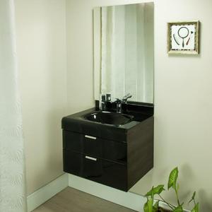 Gabinete de Banheiro Madeira 53x60x46cm Marrom e Branco Adrien 60 Bergan