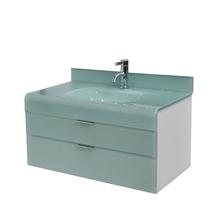 Gabinete de Banheiro Madeira 53x80x46cm Branco e Branco Esverdeado Adrien 80 Bergan