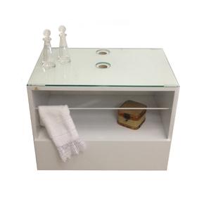 Gabinete de Banheiro Madeira 56,3x38,3x40 Branco Harpex