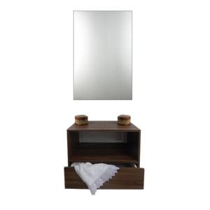 Gabinete de Banheiro Madeira 56,3x38,3x40 Marrom Harpex