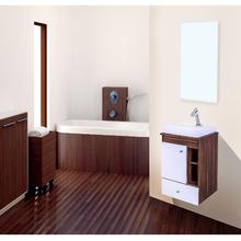 Gabinete de Banheiro Madeira Rústico Ébano 56x49x43cm Ágata FermarScalline