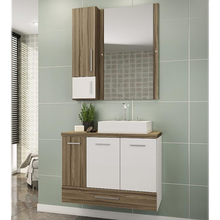 Gabinete de Banheiro Madeira Terracota 59,50x80,20x40,20cm Madri II Darabas Agardi