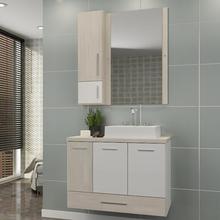 Gabinete de Banheiro Madeira Mezzo Blanco 59,50x80,20x40,20cm Madri II Darabas Agardi