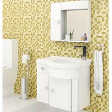 Gabinete de Banheiro Madeira Branco 59x64x43cm  Sicmol