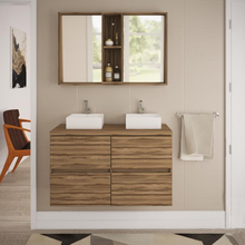 Gabinete de Banheiro Madeira 60x100x40cm Terracota Sonora Darabas Agardi