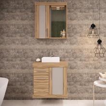 Gabinete de Banheiro Madeira 61x60x40cm Terracota Atacama Darabas Agardi