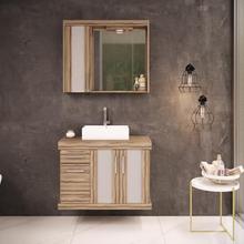Gabinete de Banheiro Madeira 61x80x40cm Terracota Atacama Darabas Agardi