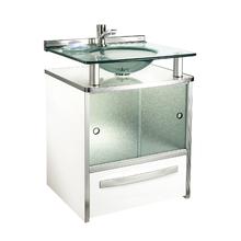 Gabinete de Banheiro Madeira Branco 70x50x46cm Mold Cris Metal