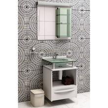 Gabinete de Banheiro Madeira Branco 70x70x46cm Mold Cris Metal