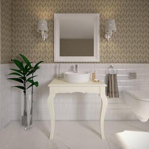 Gabinete de Banheiro Madeira 75x80x50,6cm Branco Reviver P&C Artemobili