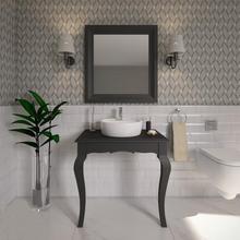 Gabinete de Banheiro Madeira 75x80x50,6cm Preto Reviver P&C Artemobili