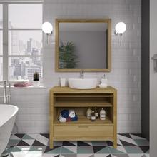 Gabinete de Banheiro Madeira 75x85x39cm Carvalho Eterno P&C Artemobili