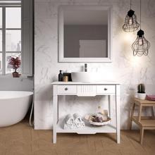 Gabinete de Banheiro Madeira 75x85x39cm Branco Vogue P&C Artemobili