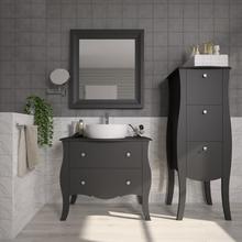 Gabinete de Banheiro Madeira 75x85x43cm Preto Classe P&C Artemobili