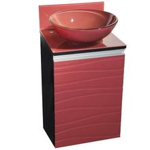 Gabinete de Banheiro Madeira 81x45x43cm Onix e Marsala Marsala Mazzu