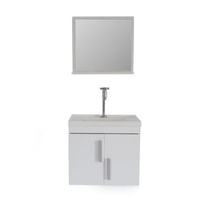 Gabinete de Banheiro Madeira Branco 45x38x50 Harpex