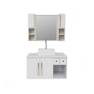 Gabinete de Banheiro Madeira Branco 45x46x80 Harpex