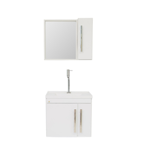 Gabinete de Banheiro Madeira Branco 49x38x62 Harpex