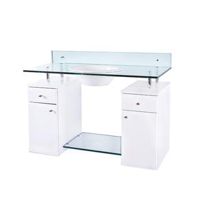 Gabinete de Banheiro Madeira Branco 2 Portas 73x100x45 Angra FermarScalline