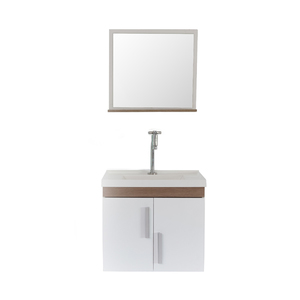 Gabinete de Banheiro Madeira Branco e Marrom 45x38x50 Harpex