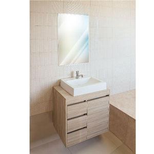 Gabinete de Banheiro Madeira Delicato 1 Porta  56,5x60x40 Policlass
