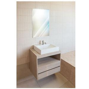 Gabinete de Banheiro Madeira Delicato sem Porta 57x60x40 Policlass