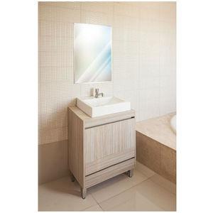 Gabinete de Banheiro Madeira Delicato 2 Portas 76,5x60x40 Policlass